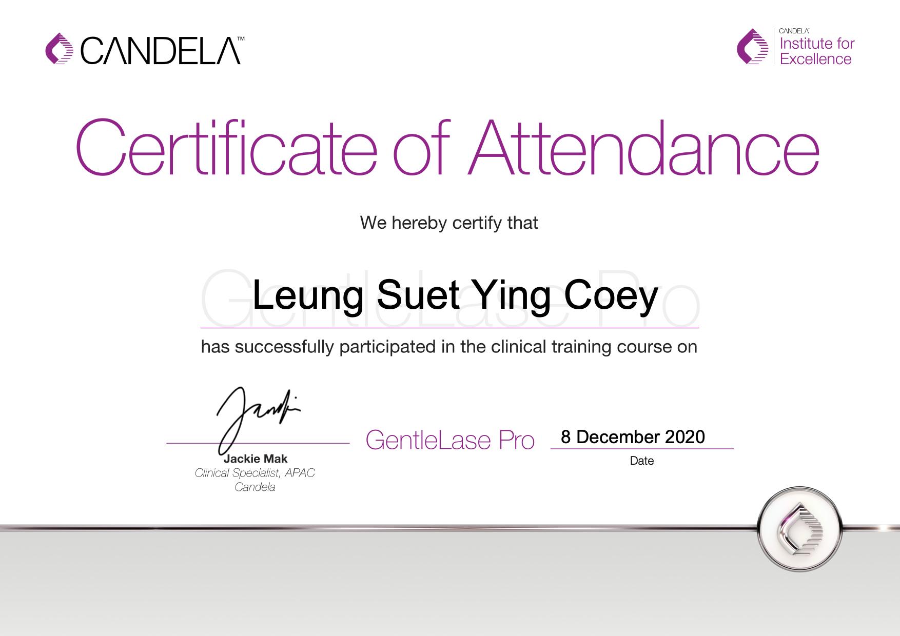 GentleLase_Pro_Certifcate_LeungSuetYingCoey