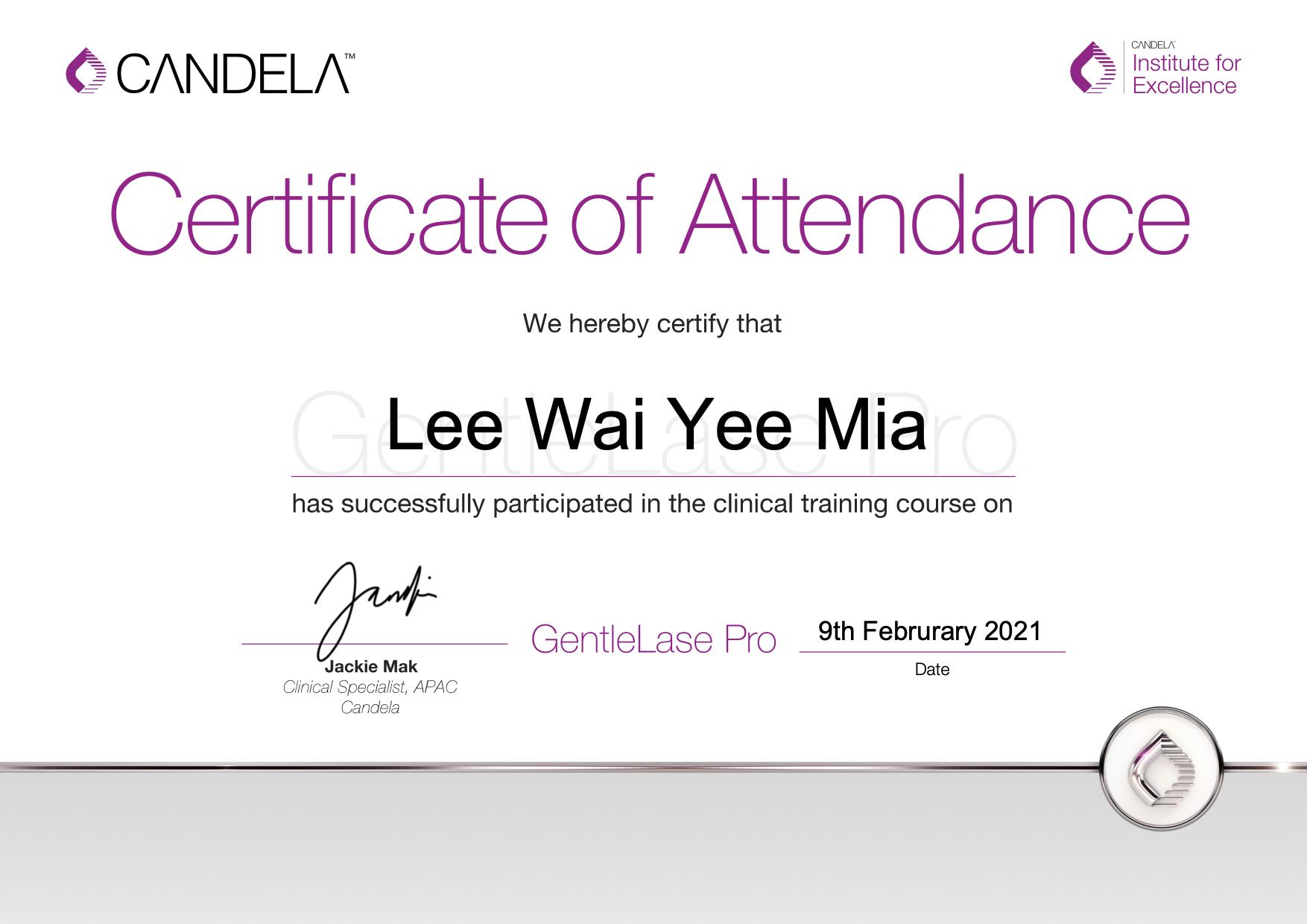 GentleLase_Pro_Certifcate_LeeWaiYeeMiaYanis