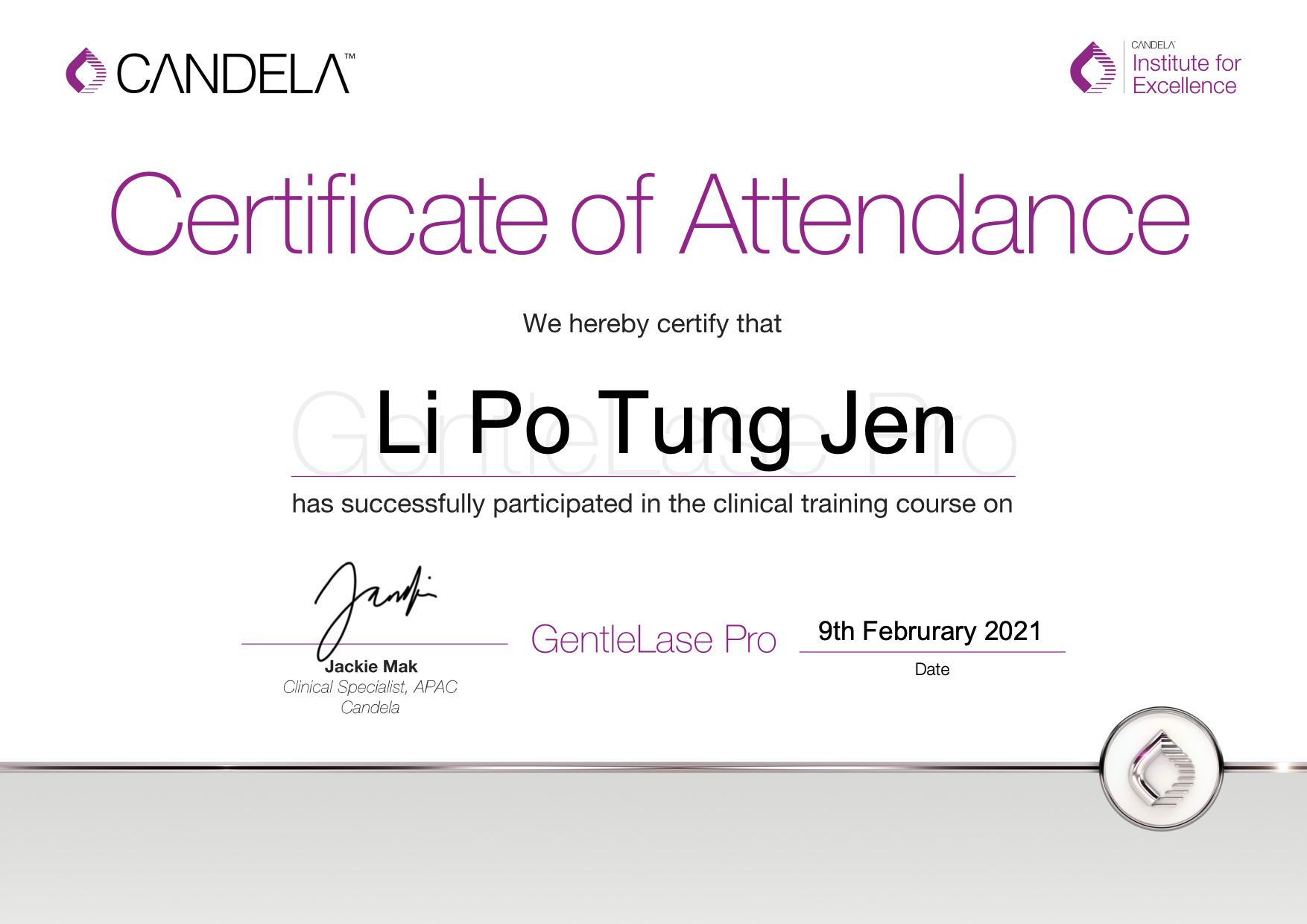 GentleLase_Pro_Certifcate_LiPoTungJenYanis