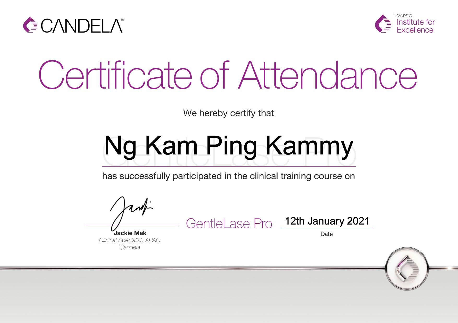 GentleLase_Pro_Certifcate_NgKamPingKammy(Yanis)