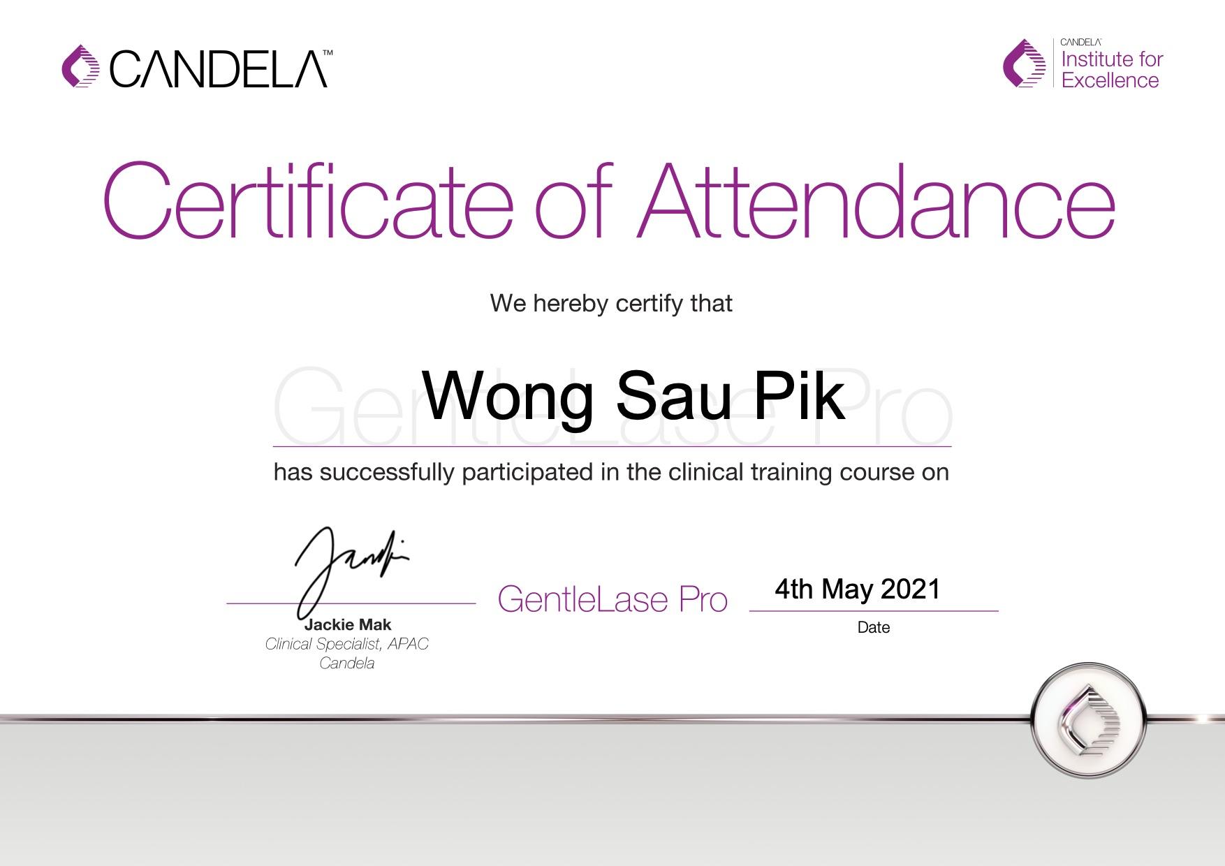 GentleLase_Pro_Certifcate_WongSauPik(Yanis)