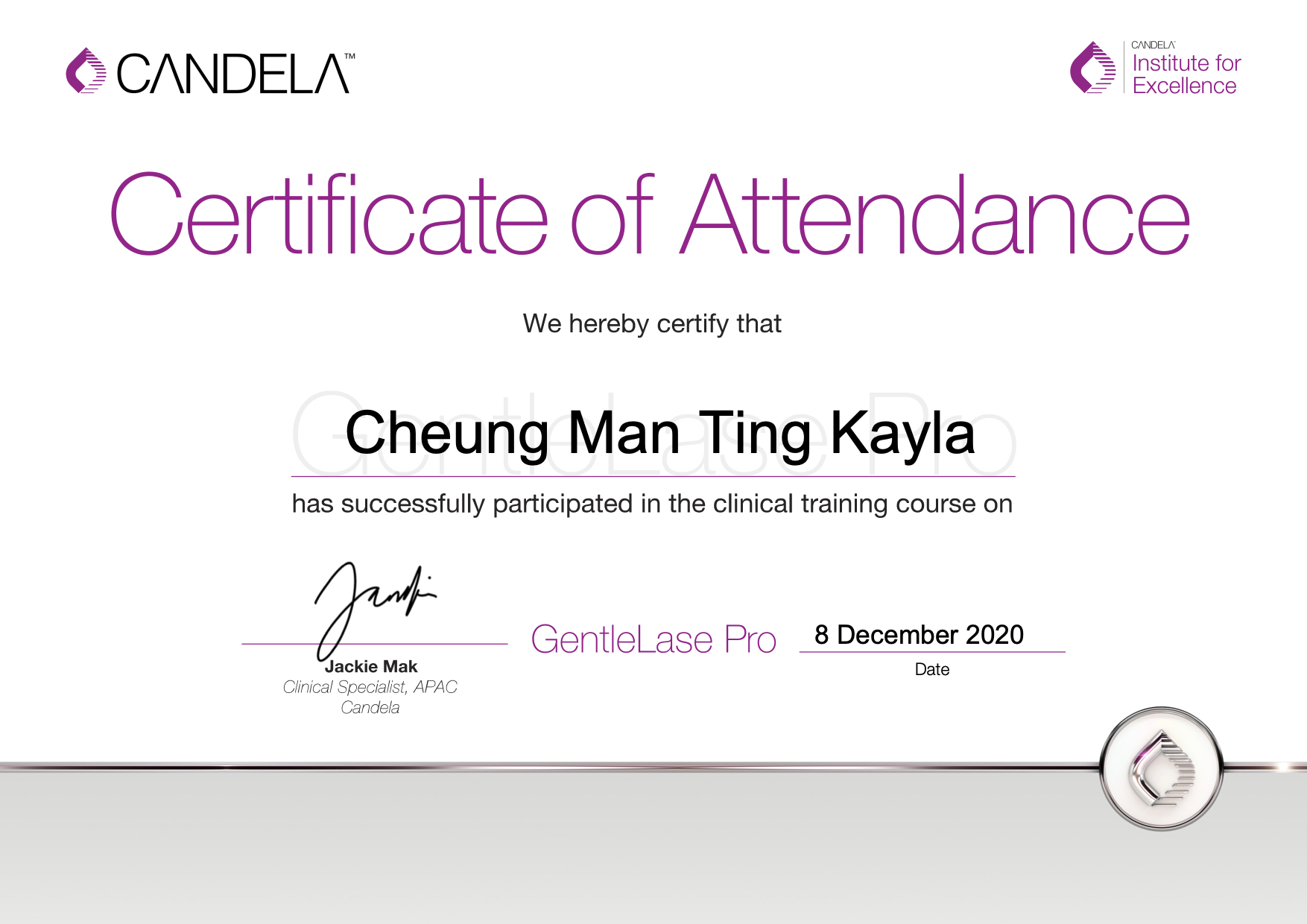 GentleLase_Pro_Certifcate_CheungManTingKayla